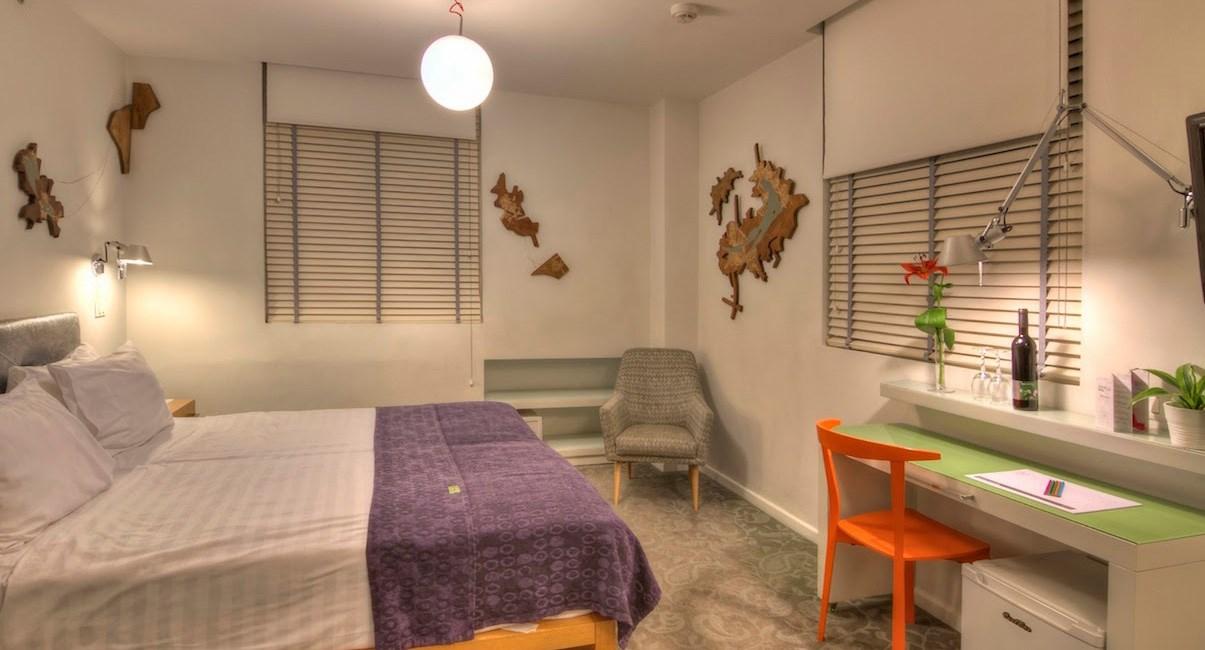 חדר זוגי עיצוב מלון ארטפלוס תל-אביב